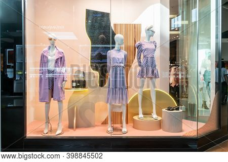 Jaspal Shop At Mega Bangna, Bangkok, Thailand, Nov 27, 2020 : Fashionable Brand Window Display. New