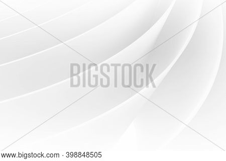 Abstract Bent White Pages Pattern, Digital Graphic Background, 3d Rendering Illustration