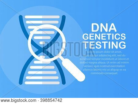 Dna Analysis Icon. Flat Iconic Symbol. Dna Analysis Vector. Designed For Web And Software User Inter