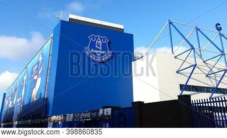 Liverpool, England - 1 April, 2017: View Of The Goodison Park Stadium, Home Of Everton Football Club