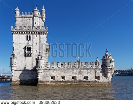 Belem Tower Or Torre De Belem, A 16th-century Fortification Located In Belem District, Lisbon, Which