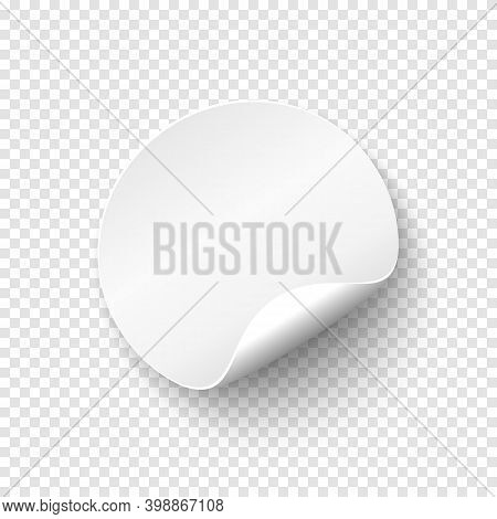 Blank Papper Round Banner. Price Tag Template. Promotion Badge.