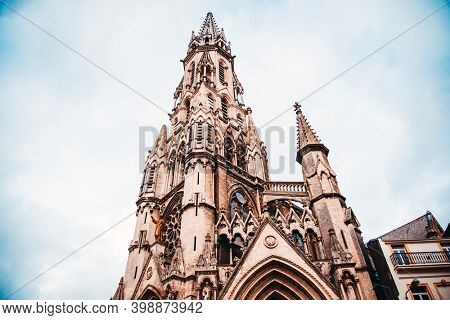 Traditional Cathedral building in Lille, France