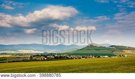 Spis Castle And Spisske Podhradie Village In Slovakia, Europe.