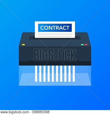Paper Cut Shredder For Web Design. Vector Illustration.