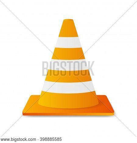 Traffic Cone. Danger Symbol. Warning Attention Sign. Work Safety