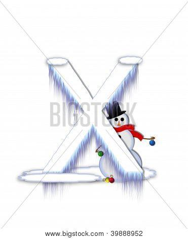 Alphabet Frosty X