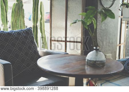 Pillow On Chair Sofa At Patio At Home