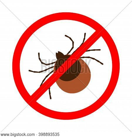 Symbol Parasite Warning Sign. Mite Spider. Mite Red. Mite Allergy. Epidemic. Mite Parasites.