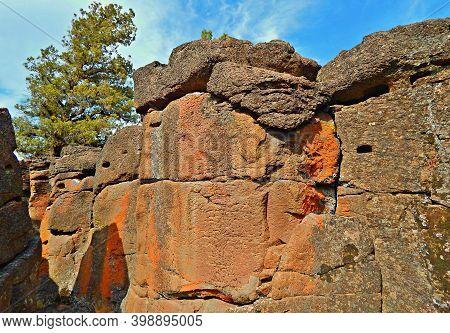 Sunny Desert Day At Buckhorn - A Rock Formation At Buckhorn Rim -west Of Redmond, Or