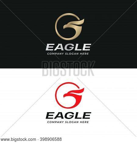 Eagle Logo. Hawk Silhouette Logotype. Bird Of Pray Vector Logo Template.