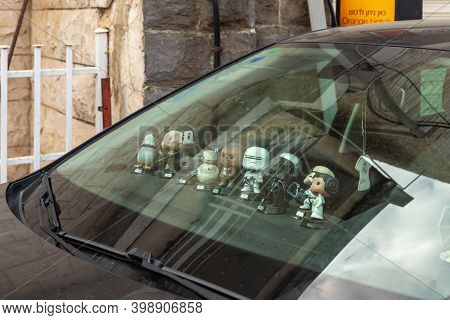Nazareth, Israel, December 05, 2020 : Figures From The Tv Series Star Wars On The Panel Of The Car I