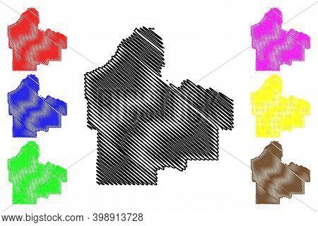 Dakota County,  Minnesota (u.s. County, United States Of America, Usa, U.s., Us) Map Vector Illustra