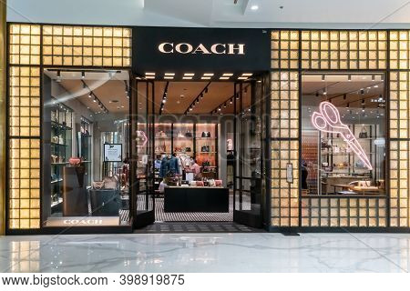 Coach Shop At Icon Siam, Bangkok, Thailand, Nov 28, 2020 : Luxury And Fashionable Brand Visual Merch