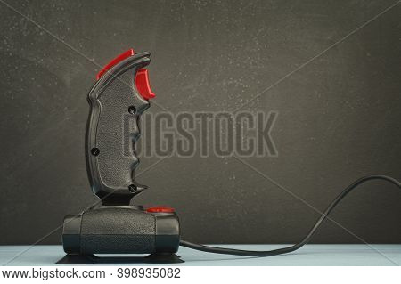 A Retro Joystick From The Mid-1980s. Close Up.