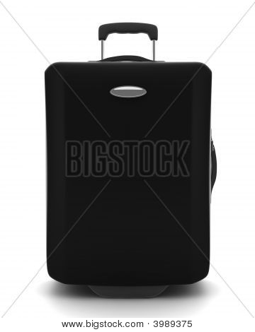 Black Suitcase Isolated On White Background
