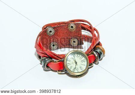 Ladies Watch.wrist Watch. Vintage.women Watch.watch Isolated White Background