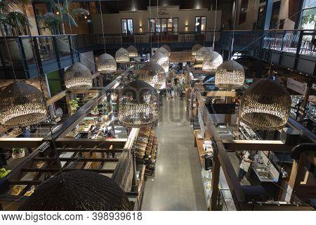Christchurch New Zealand - November 21 2020; Inside City's New Modern Riverside Markets