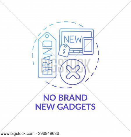 No Brand New Gadgets Concept Icon. Shopping Tip Idea Thin Line Illustration. Impulse Purchase. Savin