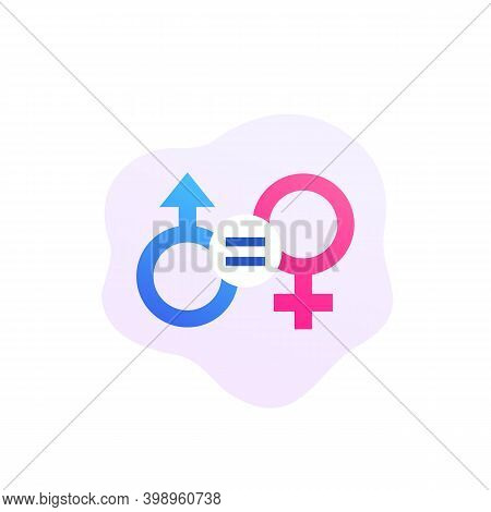 Gender Equality, Equal Rights Icon, Eps 10 File, Easy To Edit