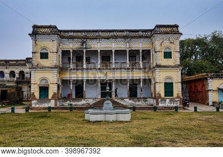 Varanasi, India - Dec 25, 2019: Heritage Ancient Royal Residential Building At Ramnagar Fort, Varana