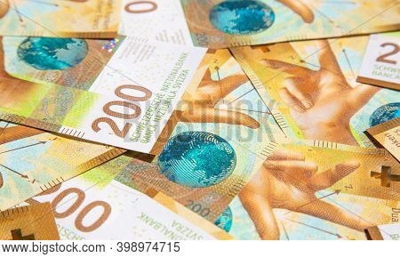 Collection of the Swiss. 1000 franks note issued by Swiss National Bank (SNB) is one of the most valueable banknotes in the world.