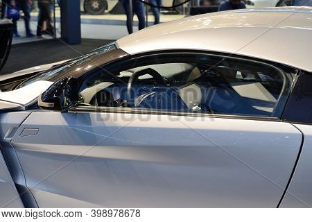 Dubai, Uae - November 17: The Wmotors Lykan Hypersport Car Is On Dubai Motor Show 2017 On November 1