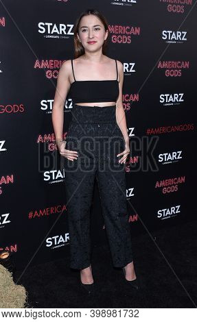 LOS ANGELES - APR 20:  Zelda Williams arrives for  Starz' 'American Gods' Premiere on April 20, 2017 in Hollywood, CA