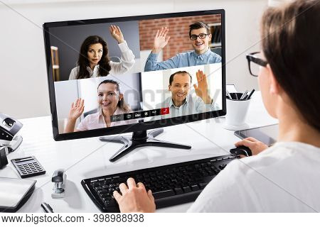 Voting Or Raise Hands For Questions In Video Conference Meeting