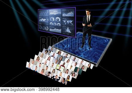 Online Live Conference Event With Virtual Audience