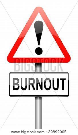 Burnout Concept.