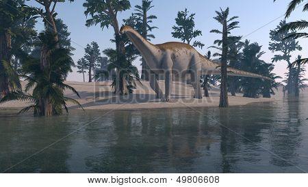 walking apatosaurus poster