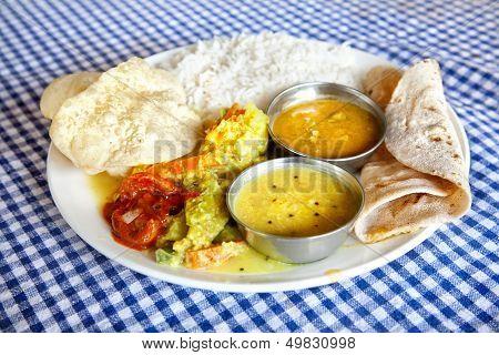 Indian Food In Restaurant