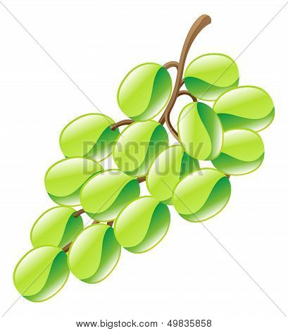 Illustration Of Grapes Fruit Icon Clipart