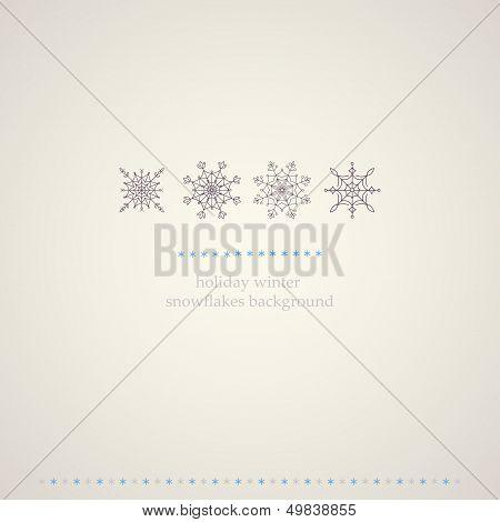 Decoration snowflakes winter background.