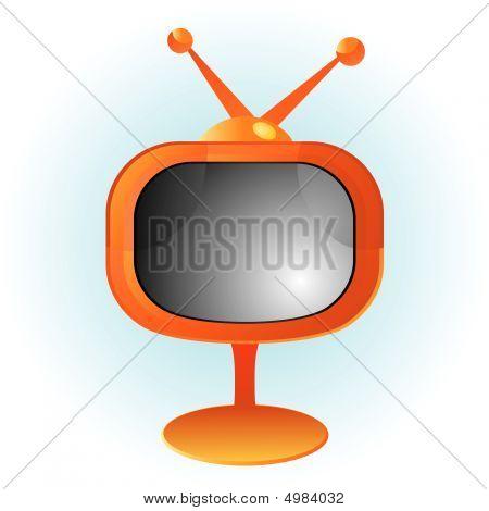 Orange Retro Television