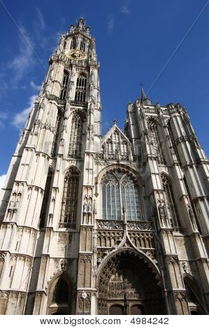 Cathedral of Our Lady in Antwerp Belgium (Onze-Lieve-Vrouwekathedraal) poster