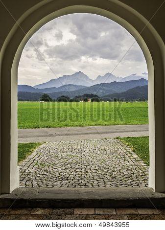 Allgau Mountains In Fussen
