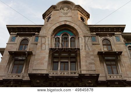 Sirkeci Big Post Office in Eminonu, Istanbul, Turkey poster