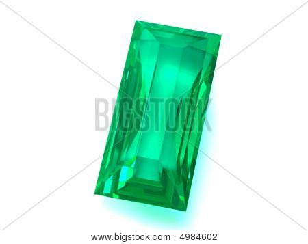 Emerald gems isolated on white background. Unique content for gems catalogues. poster