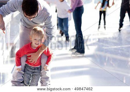 Patinação no gelo de família