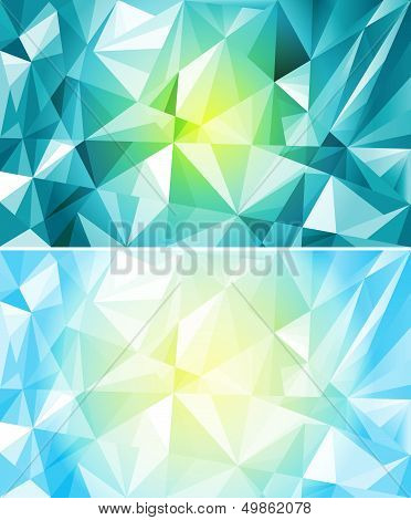 Set Of Colorful Polygon Background
