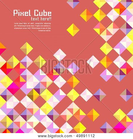 abstract modern pixel background. design modern template can be used for brochure banners or website layout vector. poster
