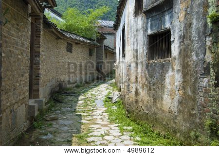 Narrow Path In A Chinese Village