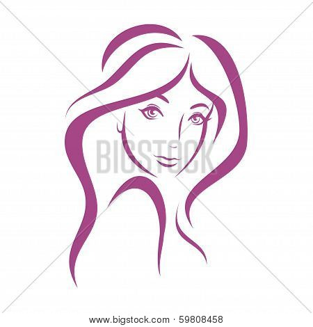 Beautiful Woman Face, Fashion Concept
