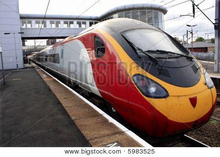 train standing at platform