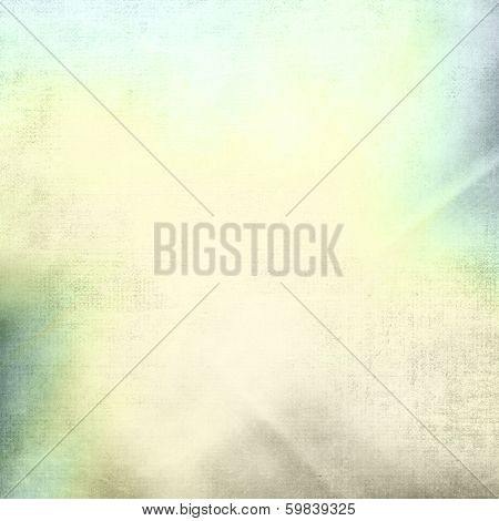 poster of old paper grunge background with delicate abstract canvas texture and blue sky view