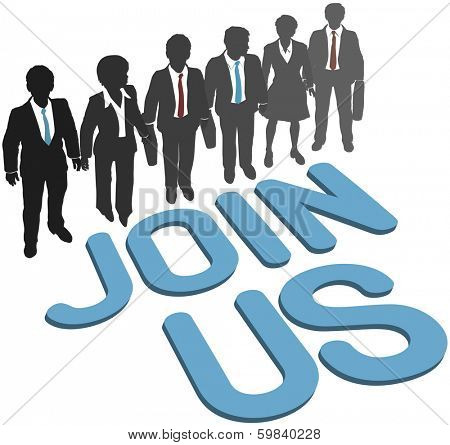 Recruiting invitation to join company corporation business team