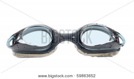 Black Goggles For Swim With Drops