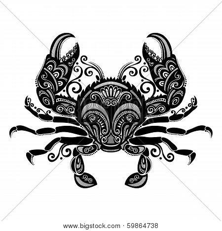 Vector Sea Crab. Patterned design